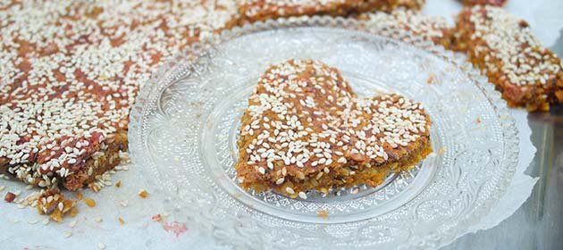 Gluten-free Pink Corn Bread with Seeds and Nuts